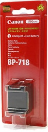 Canon BP-718 Lithium Ion Rechargeable Battery