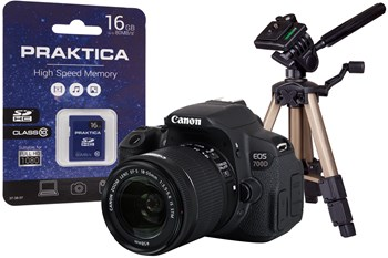 Canon EOS 700D Black Camera Kit with Tripod