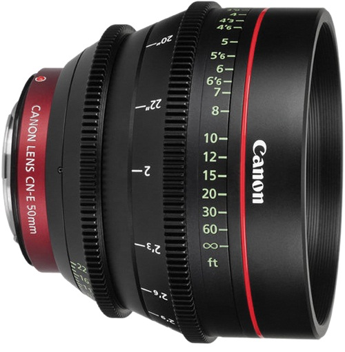 Canon CN-E 50mm T1.3 L F Cine Lens For EF Mount Cameras