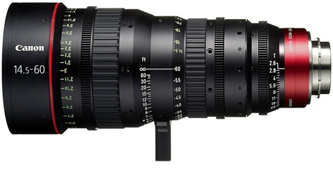 Canon CN-E 14.5-60mm T2.6 LS Cinema Zoom Lens With PL Mount