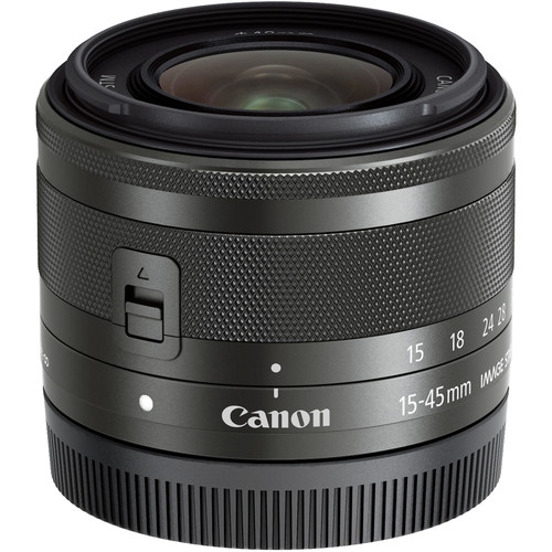 Canon EF-M 15-45mm f/3.5-6.3 IS STM Lens - Graphite