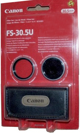 Canon FS-30.5U 30.5mm Set ND8 Neutral Density & Clear Lens Filters