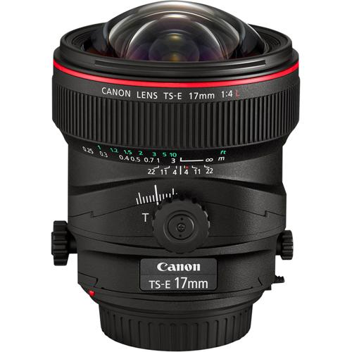 Canon Tilt-Shift TS-E 17mm F4L Lens (104 Degree Angle of View)