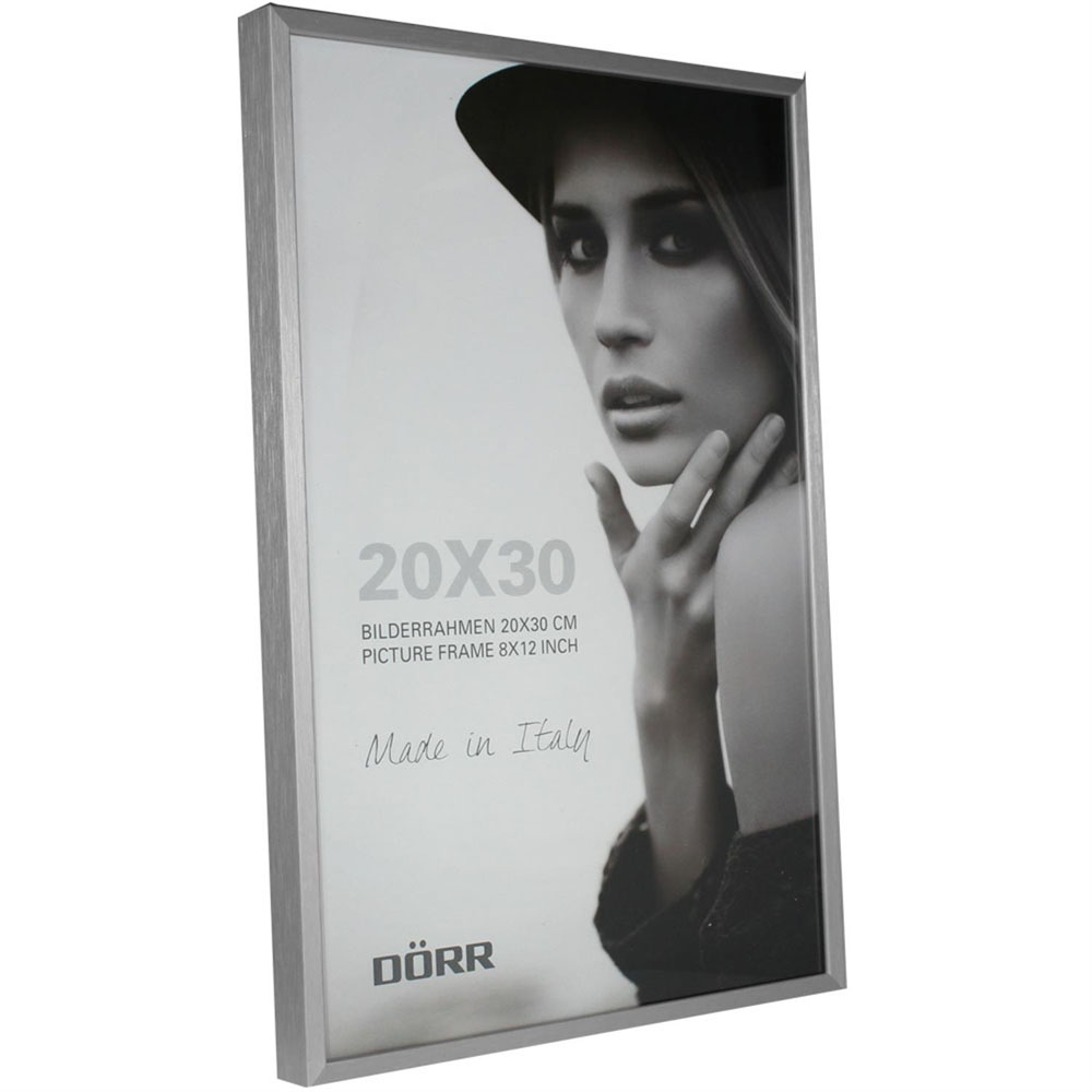 Dorr 12x8-Inch Signa Brushed Aluminium Silver Photo Frame