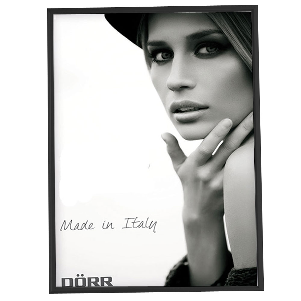 Dorr 20x16-Inch Signa Brushed Aluminium Black Photo Frame