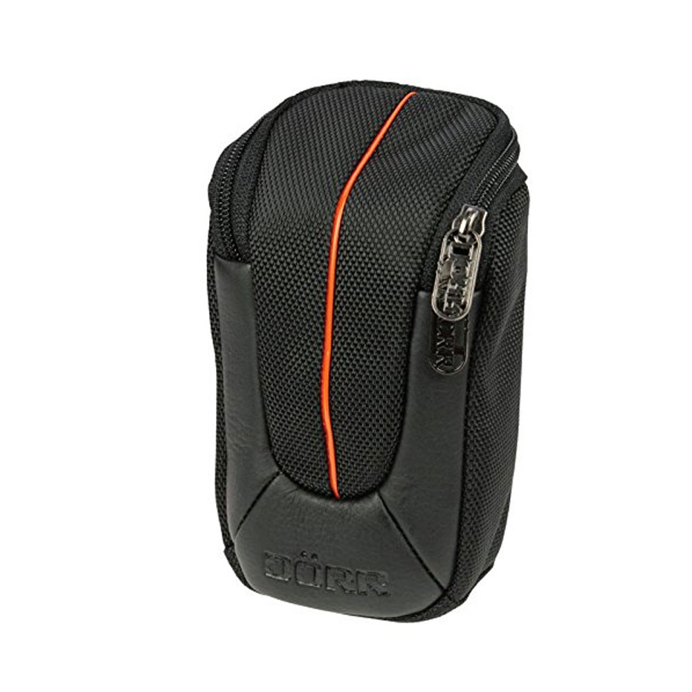 Dorr Yuma Compact Camera Case - Medium Black and Orange