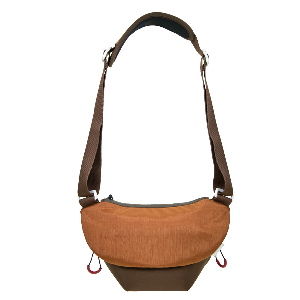 Dorr Urban Shoulder Photo Bag - Medium Brown/Orange