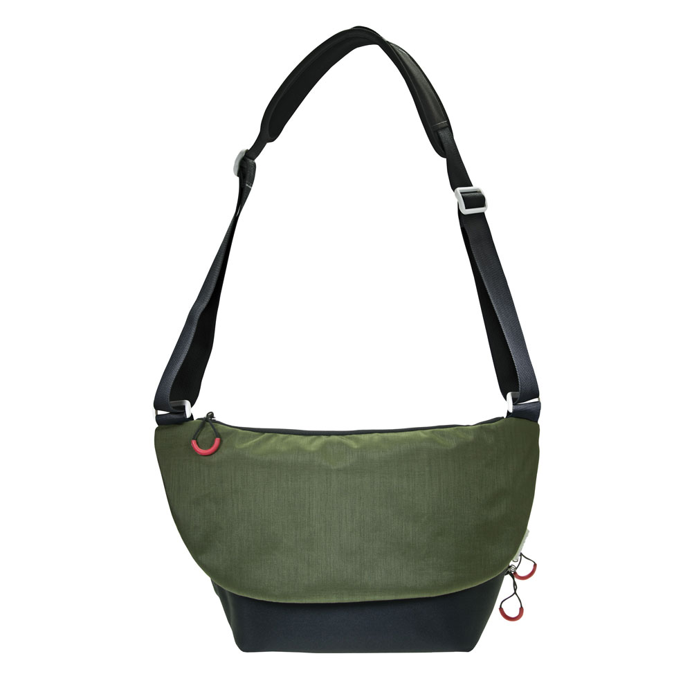 Dorr Urban Shoulder Photo Bag - Large Black/Green