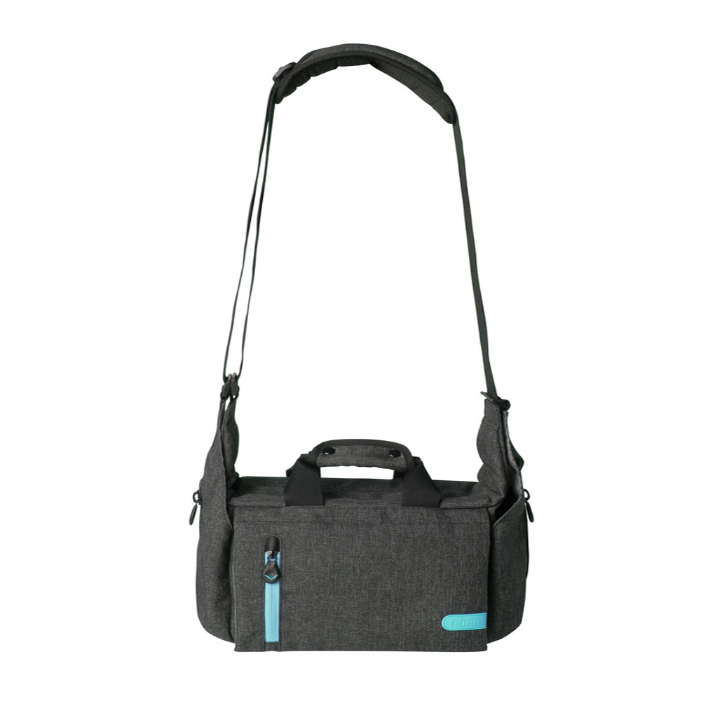 Dorr City Pro Messenger Photo Bag - Large Grey/Blue