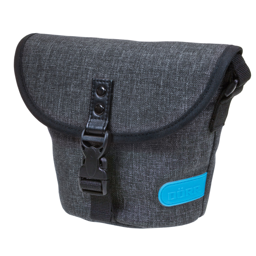 Dorr City Basic Shoulder Photo Bag - Large Grey/Blue