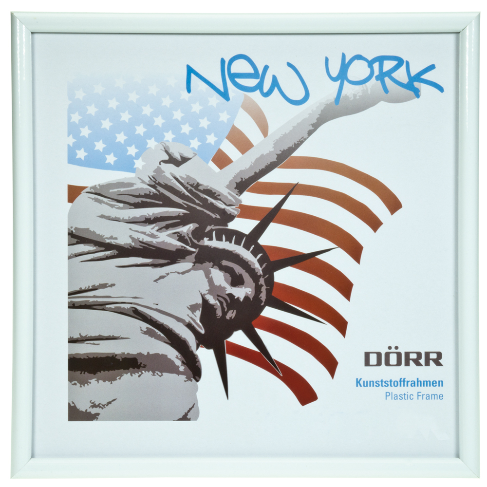 Dorr 5x5-Inch Square New York White Photo Frame