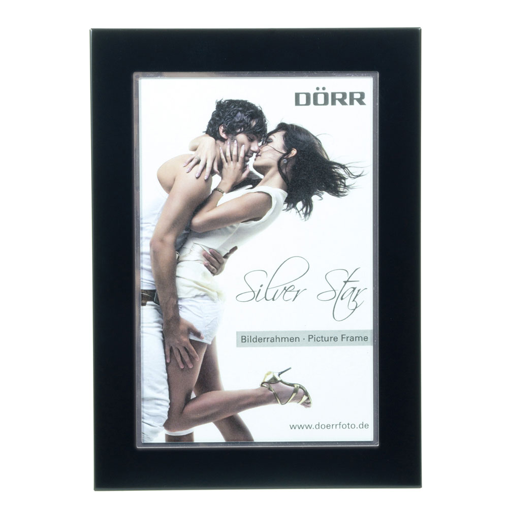 Dorr 7x5-Inch Silverstar Como Black Metal Photo Frame