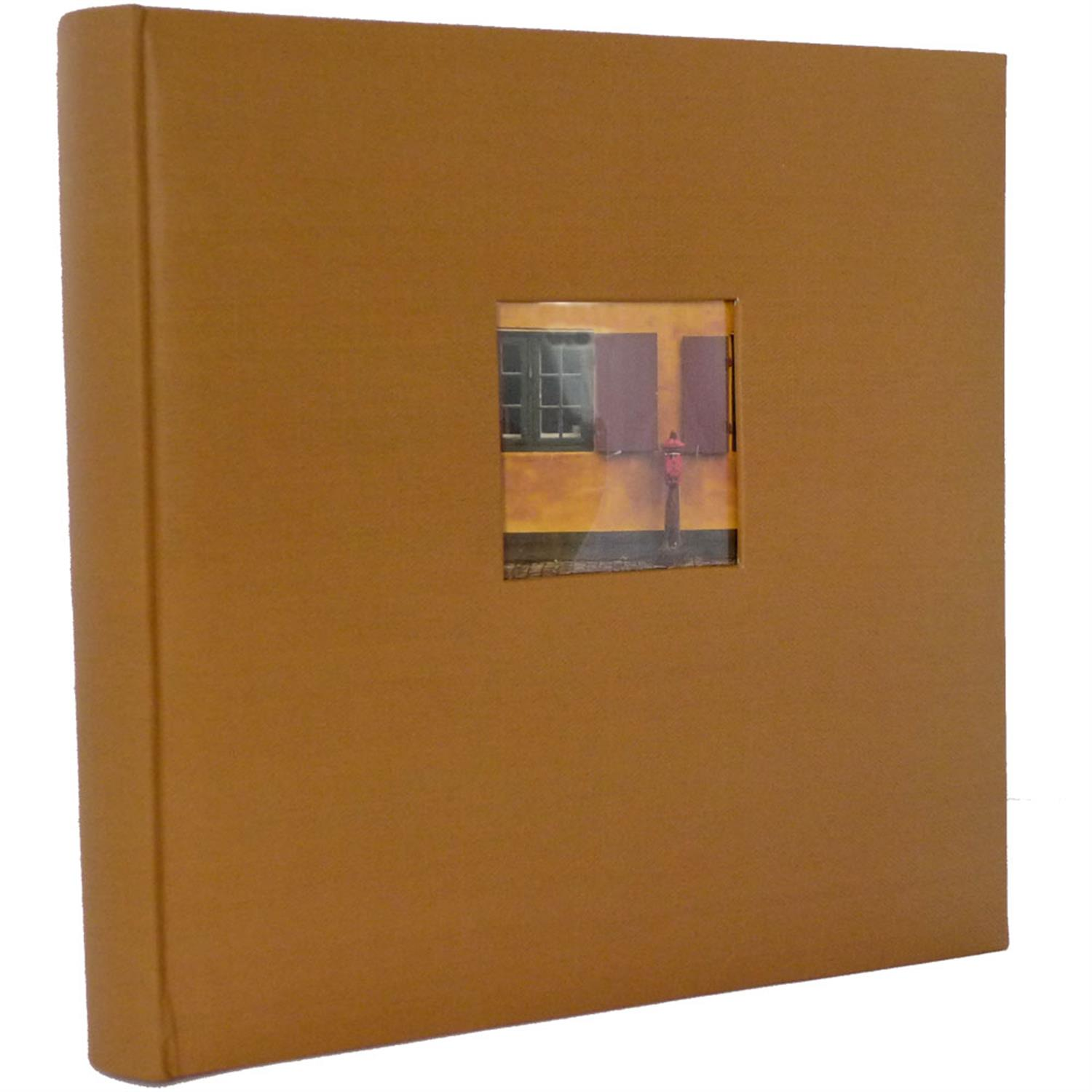 Dorr Window Brown Traditional Photo Album - 100 Sides