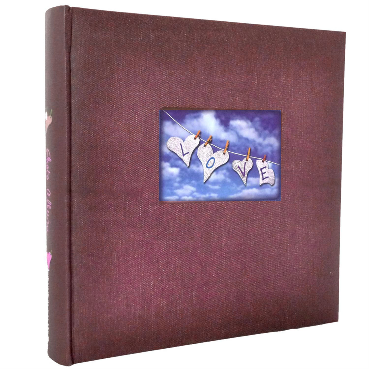 Dorr Love Red Traditional Photo Album - 100 Sides