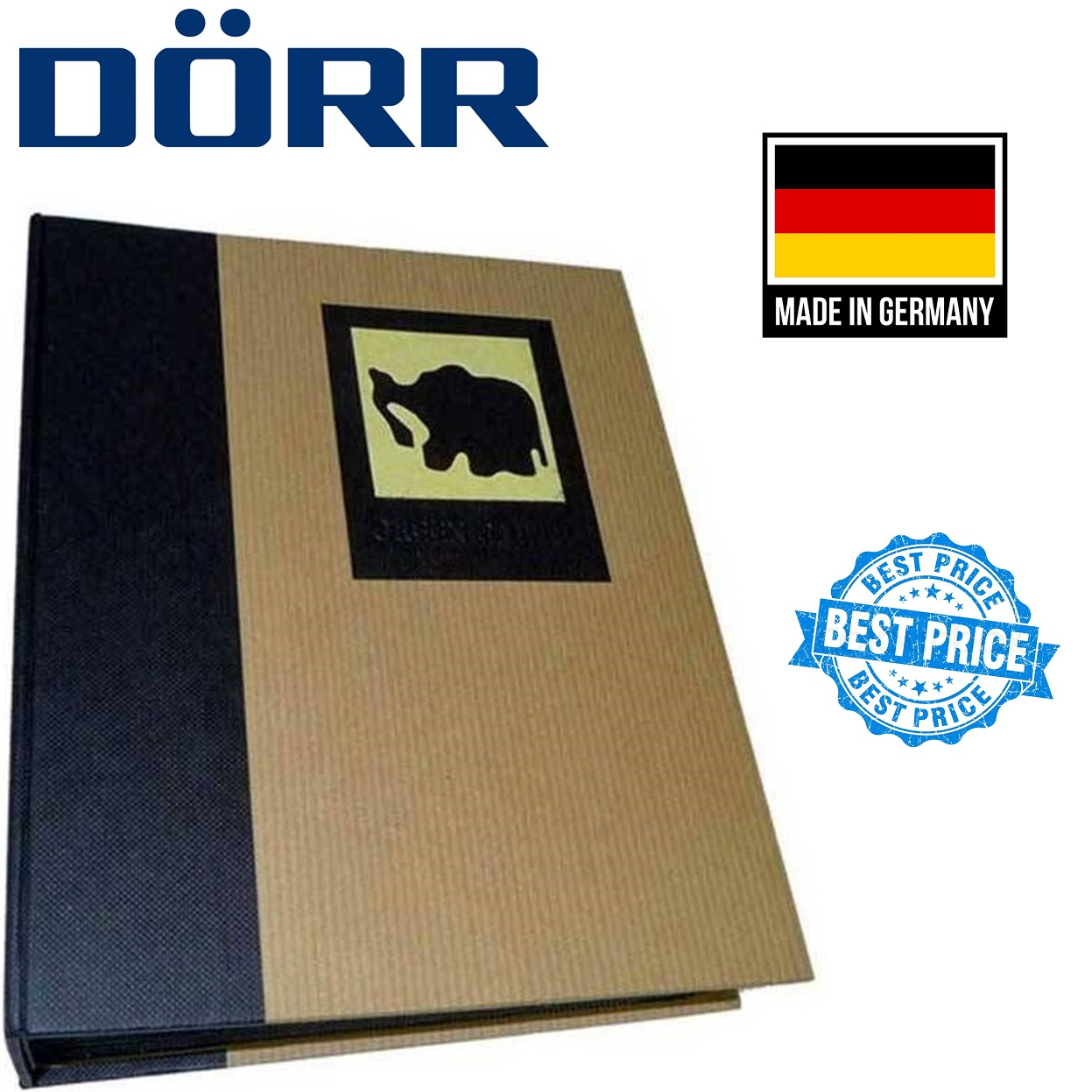Dorr Green Earth Black Elephant Traditional Photo Album with 100 Side