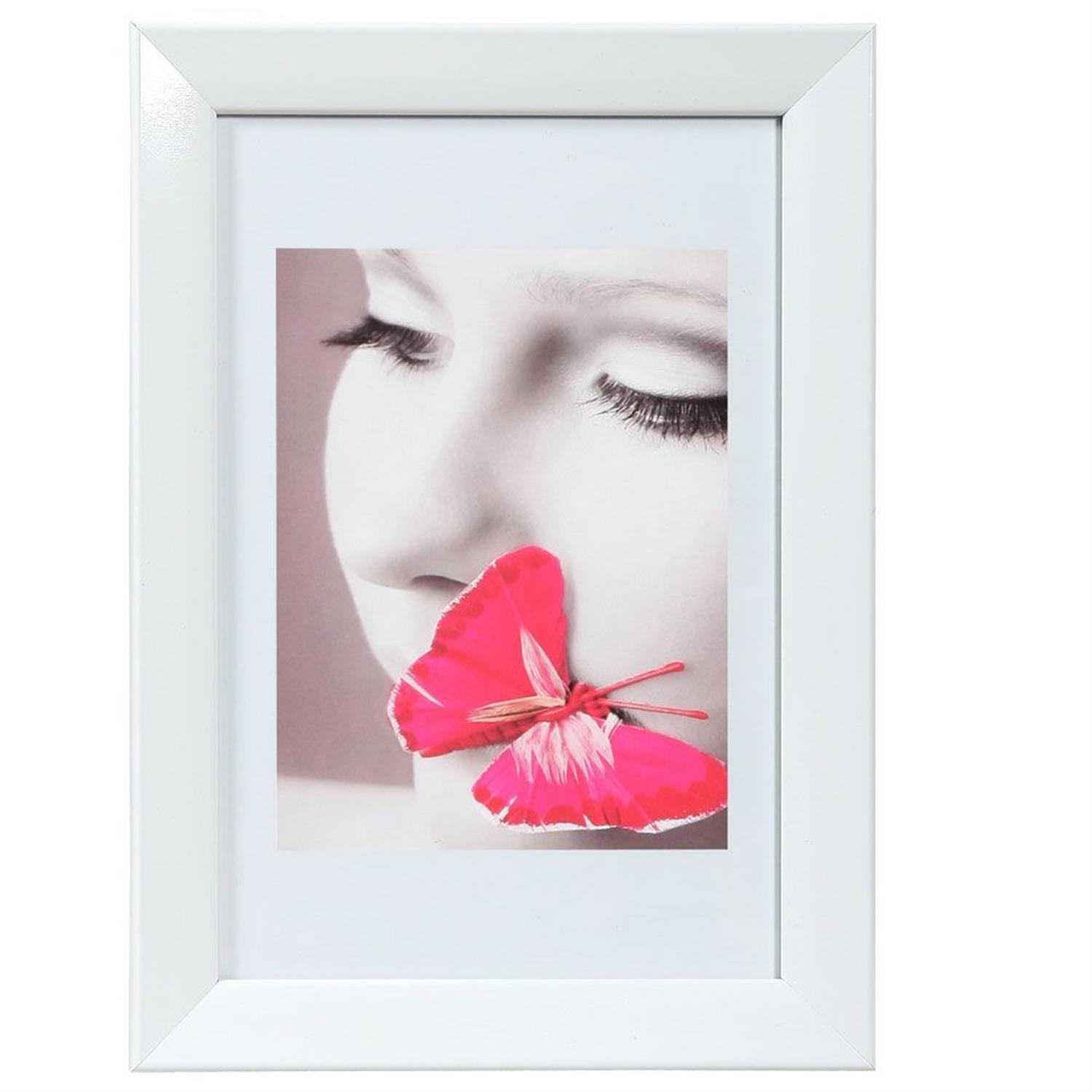 Dorr Lack White 8x6 Photo Frame