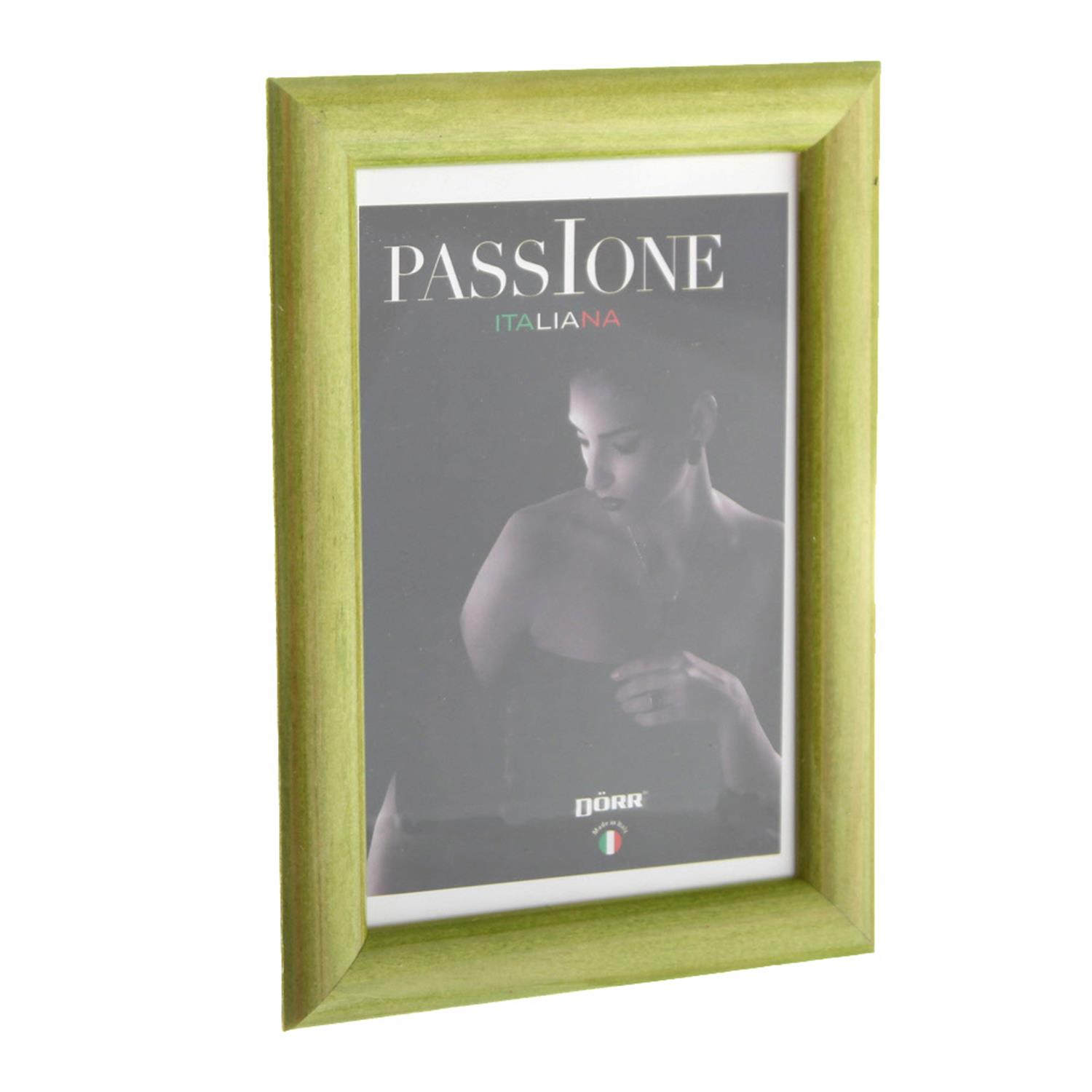 Dorr Guidi Glossy Green Wooden 12x8 Photo Frame