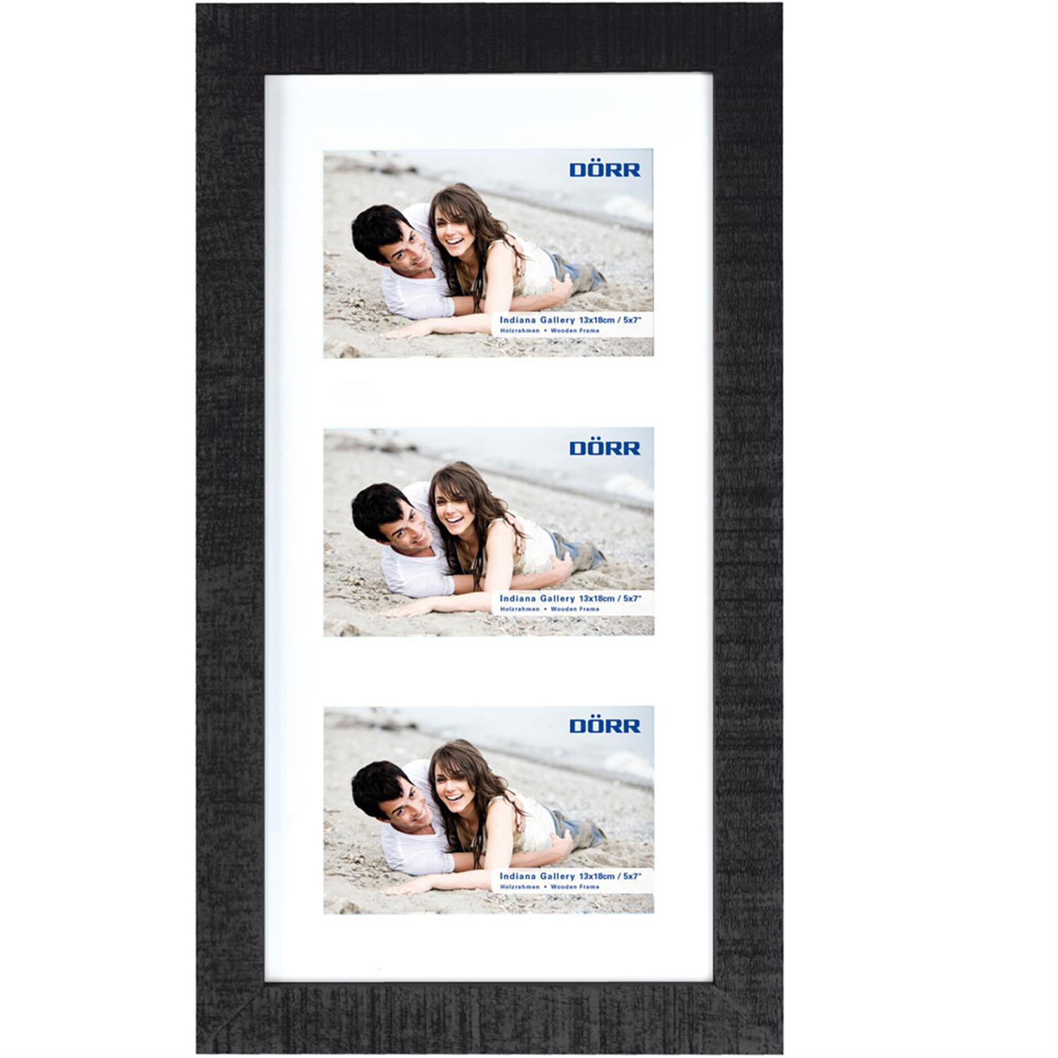 Dorr Indiana Horizontal Black Gallery Frame for 3 7x5 Photos