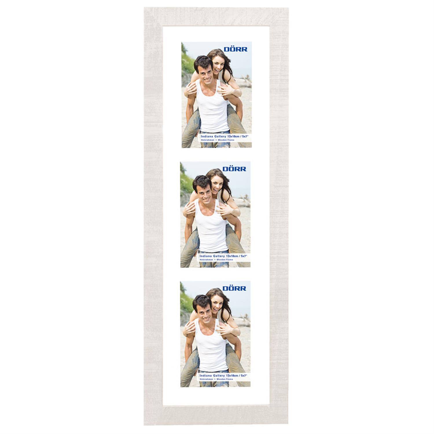 Dorr Indiana Vertical White Gallery Frame for 3 7x5 Photos