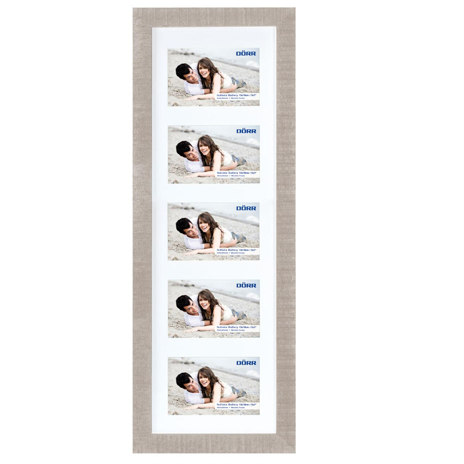 Dorr Indiana Horizontal Beige Gallery Frame for 5 7x5 Photos