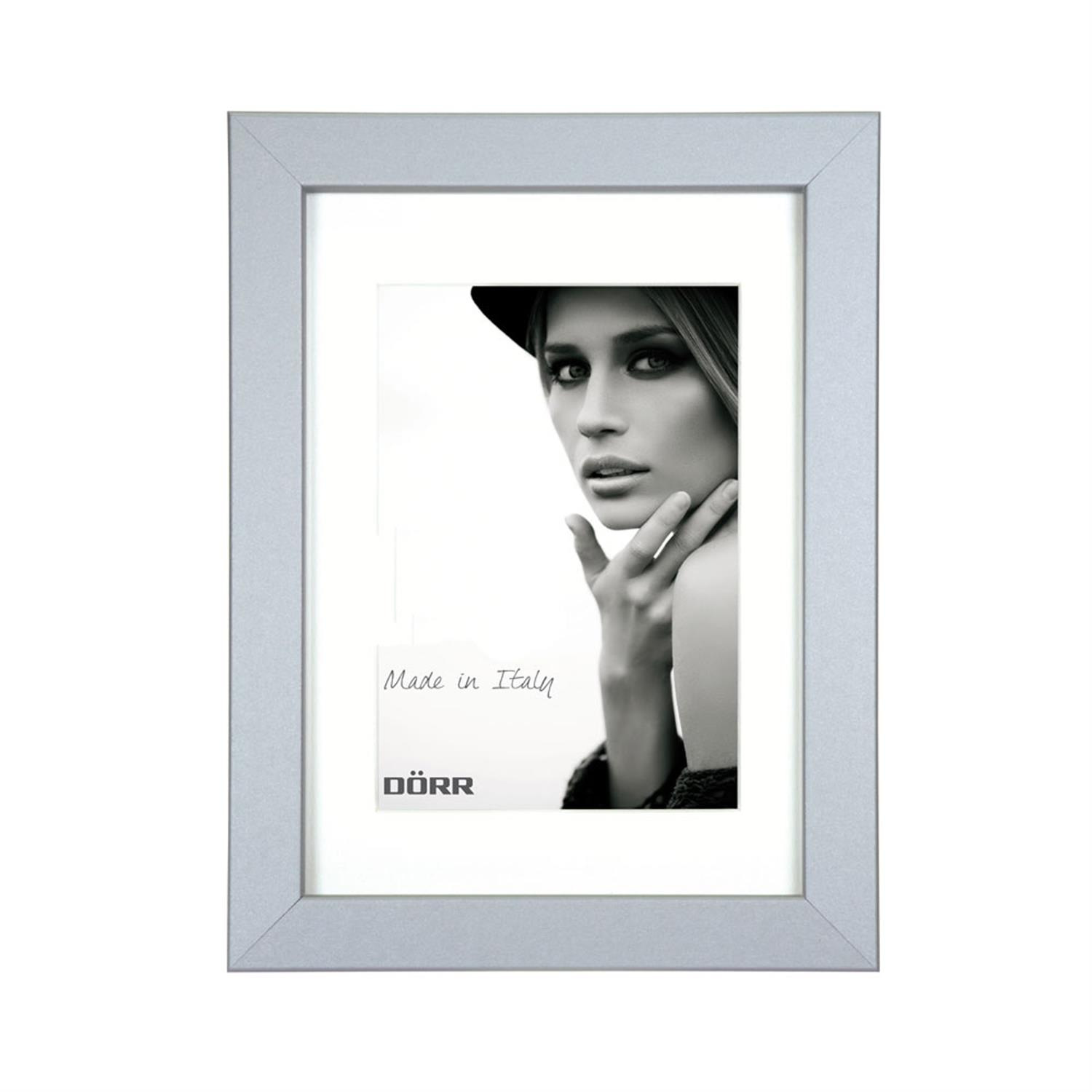 Dorr Bloc Silver 8x6 inches Wood Photo Frame with 6x4 inch insert