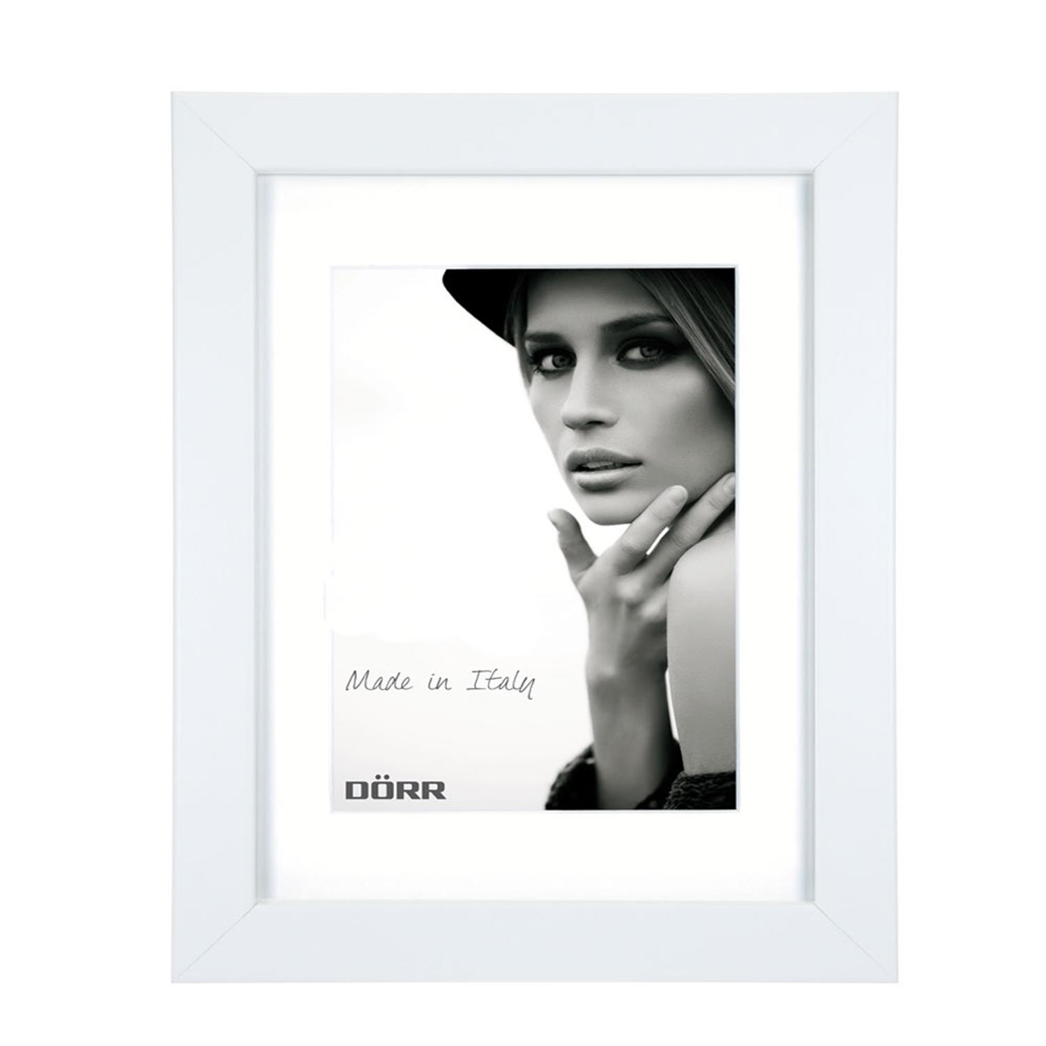 Dorr Bloc White 9x7 inch Wood Photo Frame with 7x5 inch insert