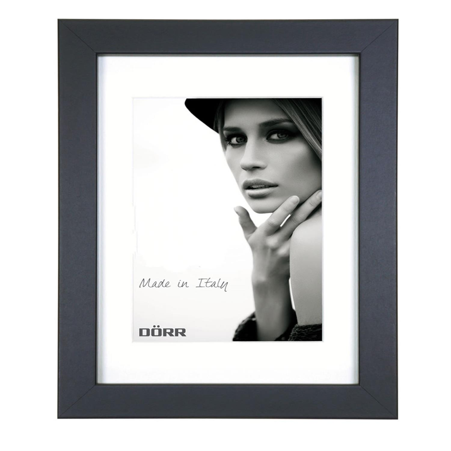 Dorr Bloc Black 20x16 inch Wood Photo Frame with 16x12 inch insert