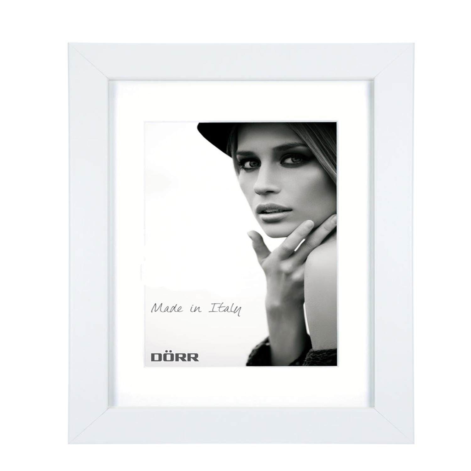 Dorr Bloc White 20x16 inch Wood Photo Frame with 16x12 inch insert