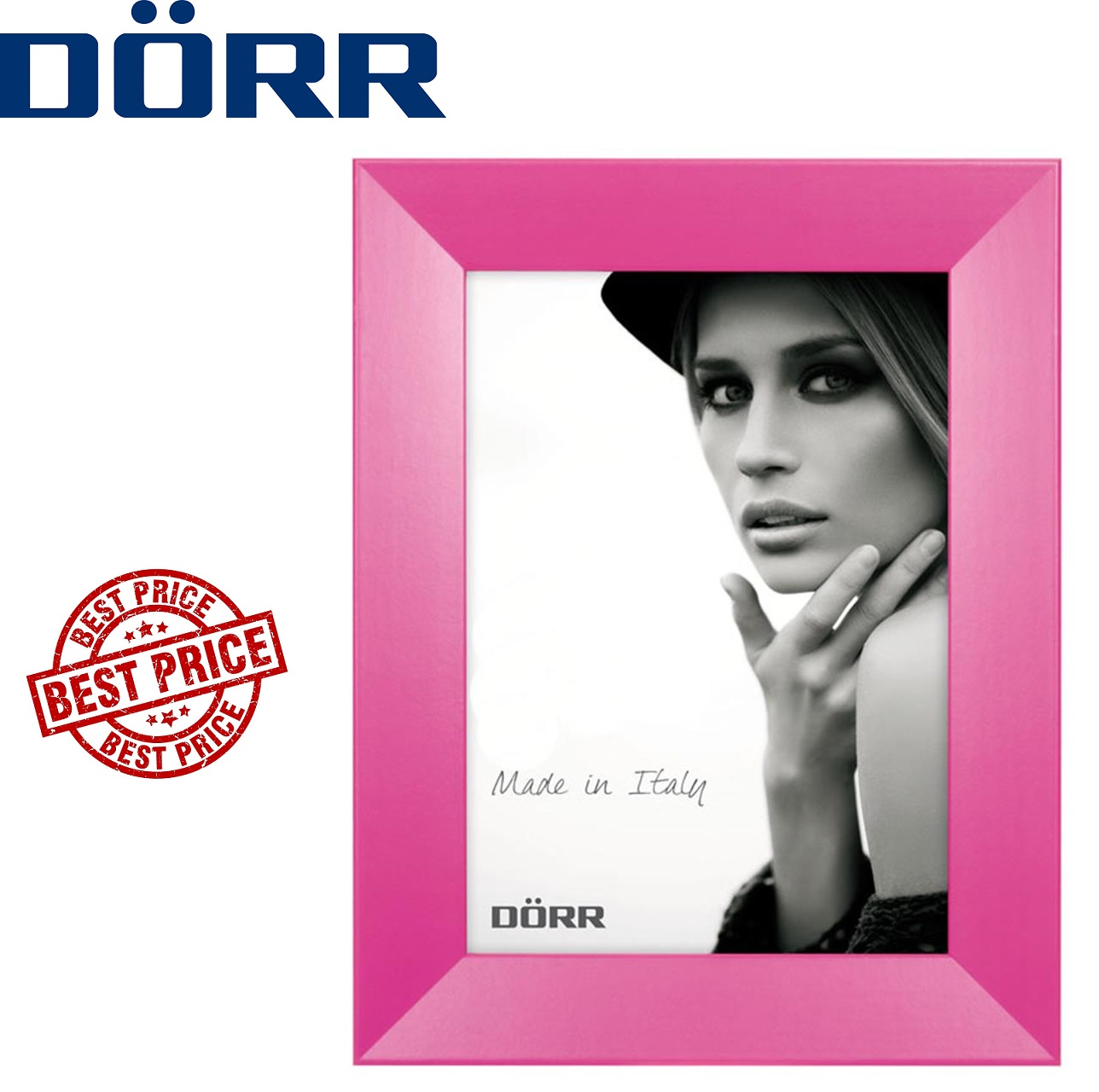 Dorr Trend Pink 7x5 inches Wood Photo Frame