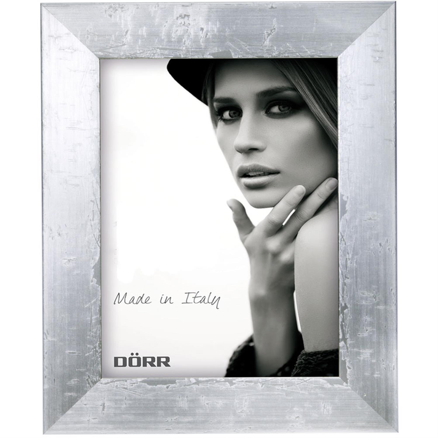 Dorr Milo Silver Effect Wooden 28x20 Photo Frame