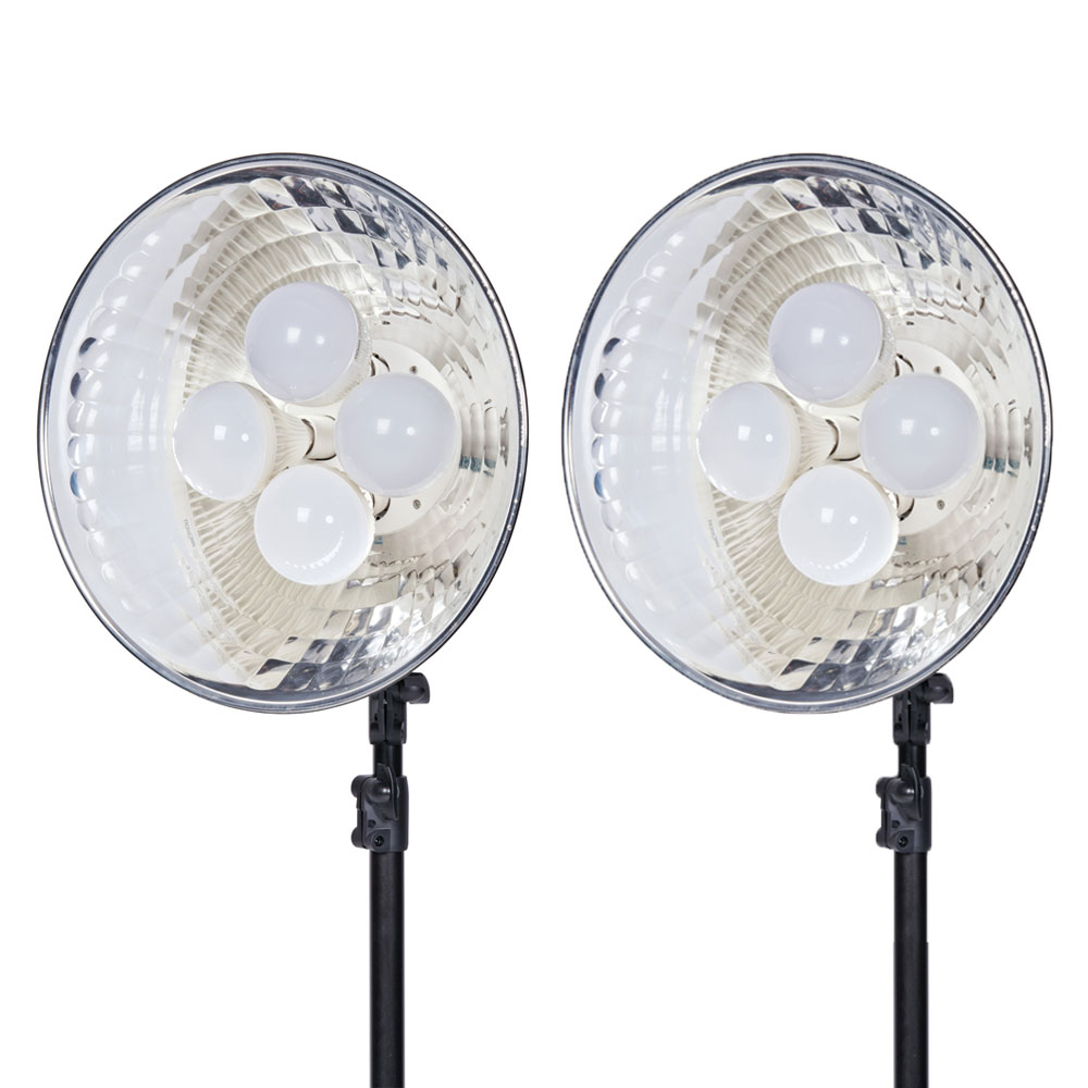 Dorr DL-400 LED Continuous Lighting Kit 8 x 25 Watt LED Bulbs