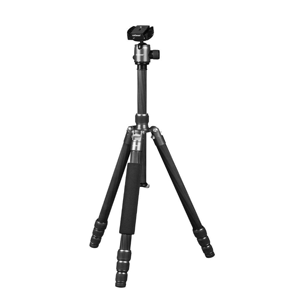 Dorr HQ1635 4 Section Black Carbon Fibre Tripod With Ball Head