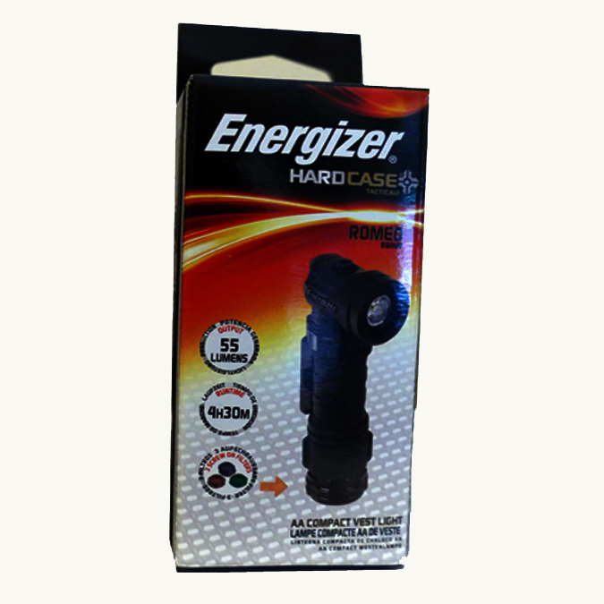 Energizer Hard Case Tactical ROMEO Vest Light - Black (RM-RBIN)