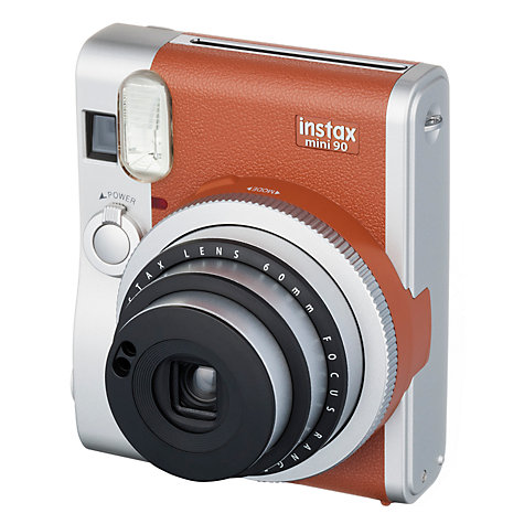 Fujifilm Instax Mini 90 Instant Camera - Brown inc 10 Shots