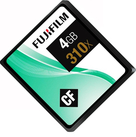 Fujifilm 4GB Compact Flash Memory Card 310X