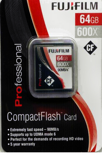 Fujifilm 64GB Compact Flash Card 600x