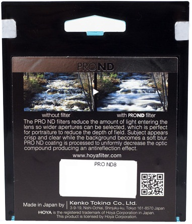 Hoya 52mm ND8 ProND Neutral Density Filter