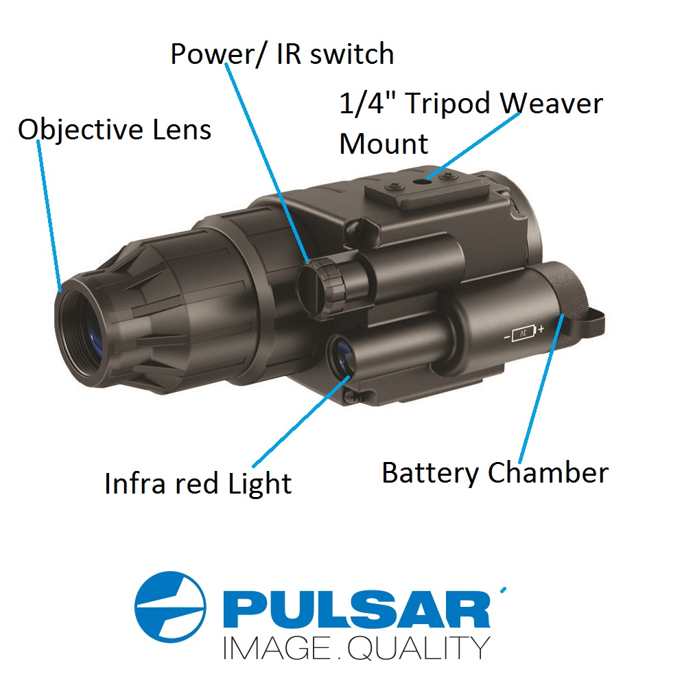 Pulsar Challenger GS 1x20 Night Vision Scope with Head Mount Kit