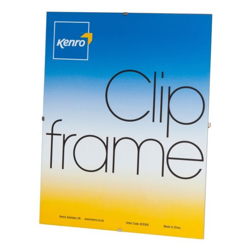 Kenro 12x12-Inch Glass Fronted Clip Frame