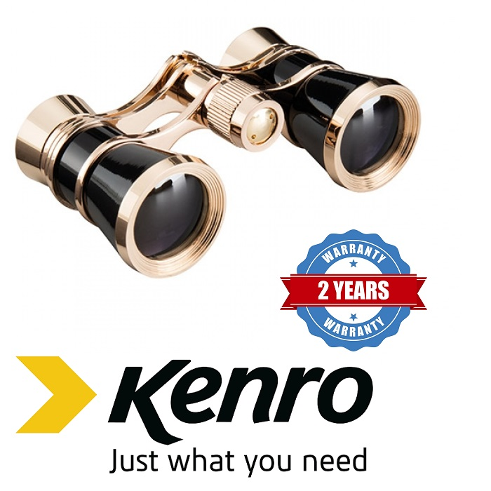 Kenro 3x25 Opera Glasses - Black
