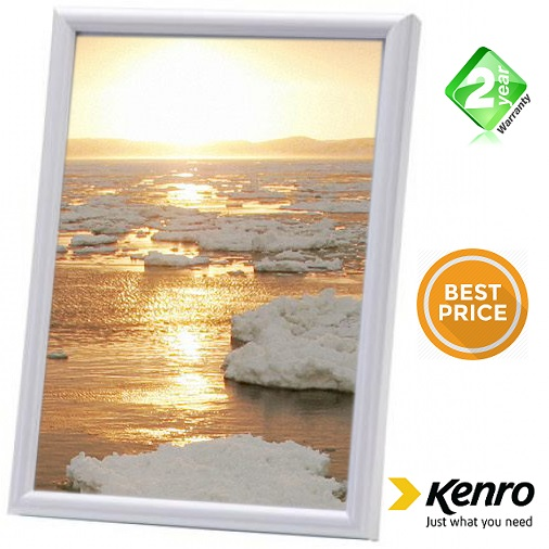 Kenro 5x5 Inch Frisco Square White Photo Frame