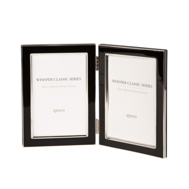 Kenro 6x4 Inch Twin Whisper Classic Photo Frame - Black Inlay