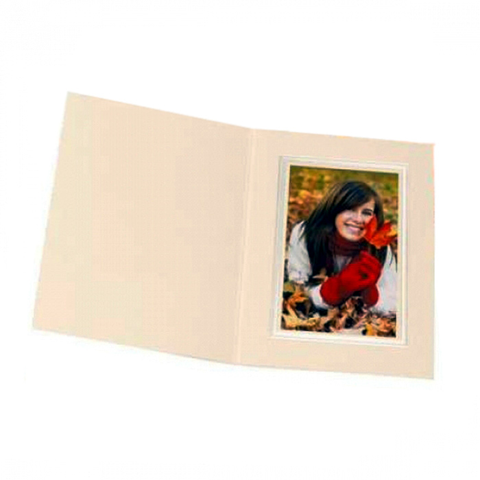 Kenro 6x4 Portrait Slip In Photo Folders Ivory - Pack Of 50