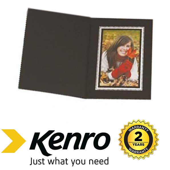 Kenro 7x5 Portrait Slip In Photo Folders Black- Pack Of 10