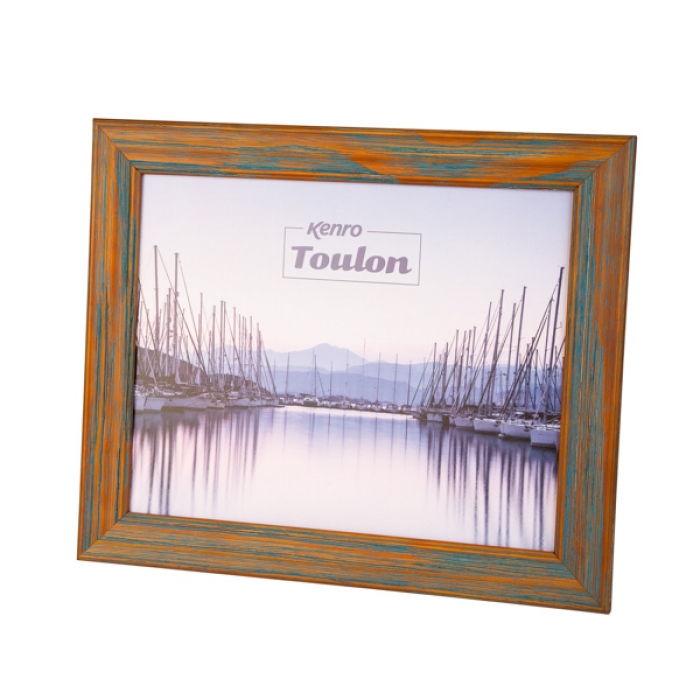 Kenro 8x10-Inch Toulon Series Wooden Photo Frame - Blue