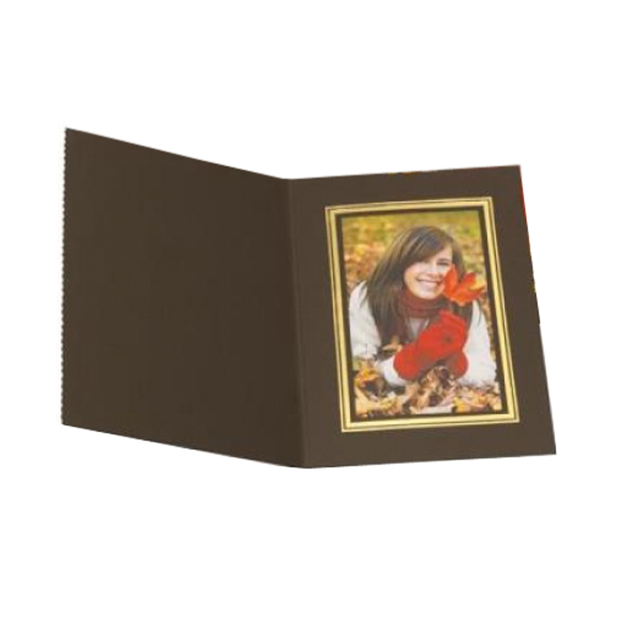 Kenro 8x12 Portrait Slip In Photo Folders Brown - Pack Of 50
