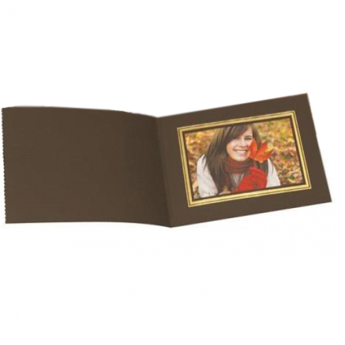 Kenro 8x6 Landscape Slip In Photo Folders Brown- Pack Of 50