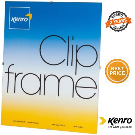 Kenro 8x6-Inch Glass Fronted Clip Frame