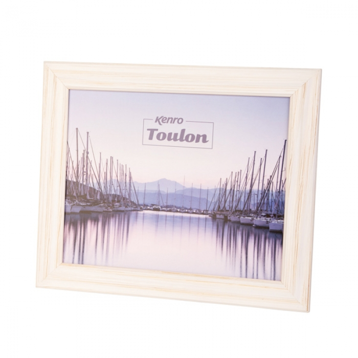 Kenro 8x6-Inch Toulon Series Wooden Photo Frame - White