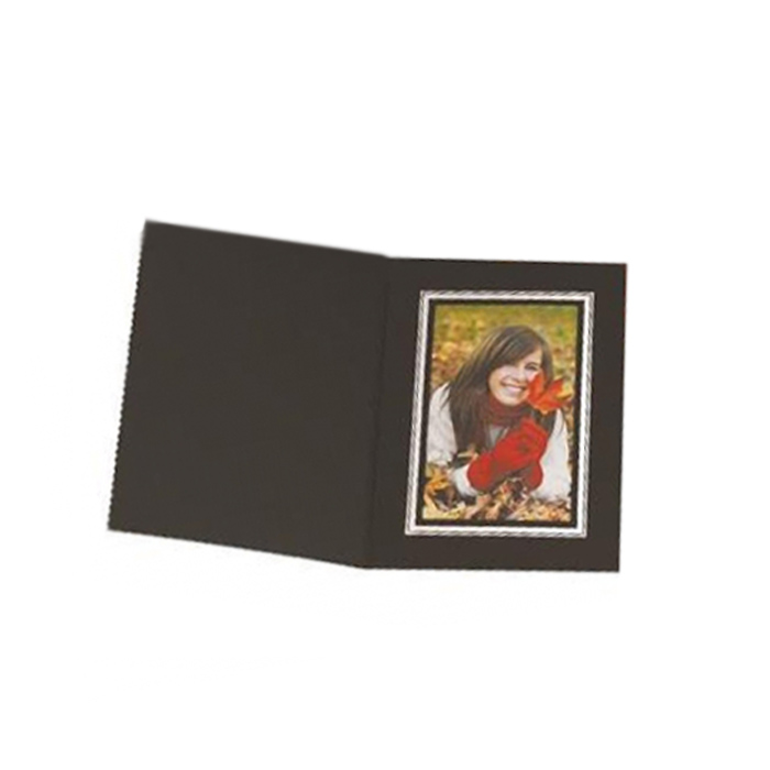 Kenro 8x6 Portrait Slip In Photo Folders Black- Pack Of 50